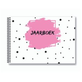 Jaarboek invulboek - Roze