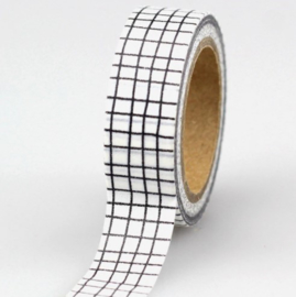 Decoratieve Grid Wit/Zwarte  Washi Tape
