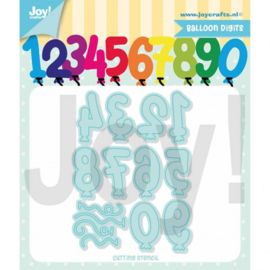 Snijstencil ballon cijfers - Joy!Crafts Jocelijne