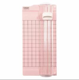 Mini papiersnijder 6,5x15,3cm roze - Vaessen Creative