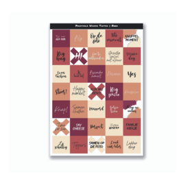 Mini Quote Cards - Warme Tinten Rood
