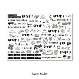 Stickervel contour 'Schoolfotoboek'