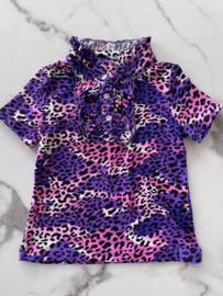 T-Shirt Panterprint Lila-Roze