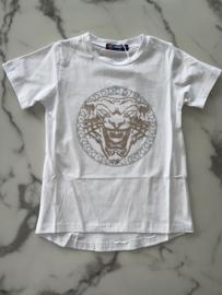 T-shirt Wit met leeuwen logo