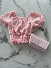 """Shirtje met een bijpassend tasje """"Roze"""""""