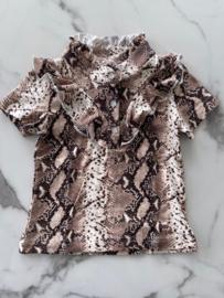 T-Shirt Slangenprint Camel