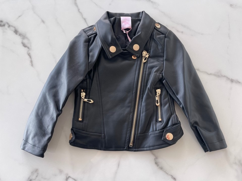 "Leather look jas ""Zwart"""