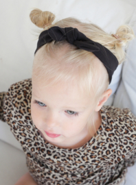 Haarband Zwart uni