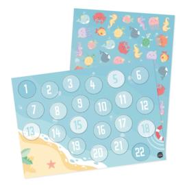 Tante Kaartje - Aftelkalender + stickers VAKANTIE