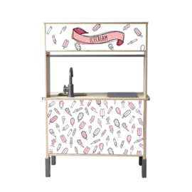 STCKERS  - Pink Ice Cream bar -  Sticker Set