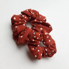 Scrunchie - Brique dots