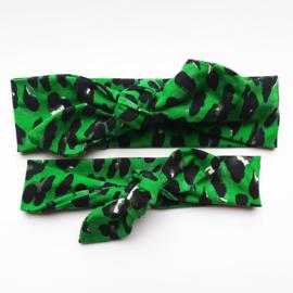 Haarband Panter groen