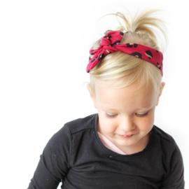 Haarband Panter framboos