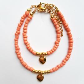 Moeder - Dochter armbandjes  - Roze