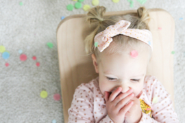Haarband Roze gouden dots