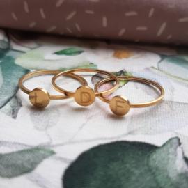 Letter ringen  - Goud