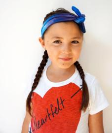 Haarband Batik blauw