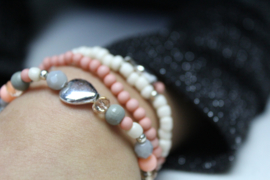 Maak je eigen - setje armbandjes Roze - pakket