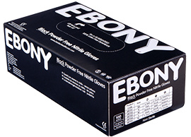 EBONY Nitril handschoenen extra dik -  Medium