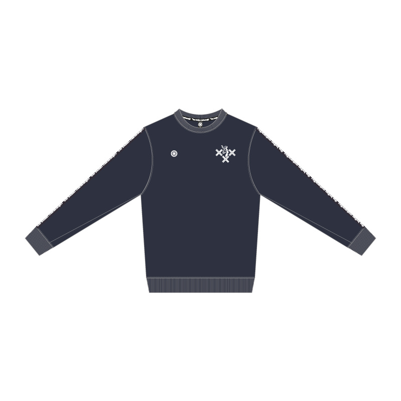 IM Poly Terry Sweater navy