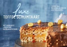 Toffee schuimtaart 6/8 pers