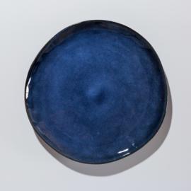 Donker blauw dinerbord van aardewerk Afmeting 29 Ø cm