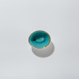 Kleine kommetjes Wit & Aqua blauw