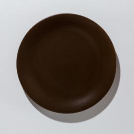 Donker bruin dinerbord van aardewerk 26 Ø cm