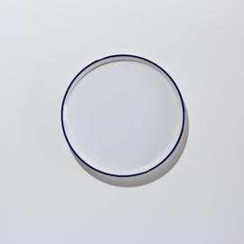 "Wit ontbijtbordje  ""Delfsblauw"" 19 Ø cm"