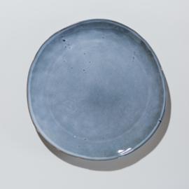Licht blauw dinerbord van aardewerk Afmeting 29 Ø cm