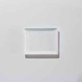 Gebaksbord rechthoek 15,5 x 12 cm
