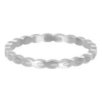 oval shape zilver