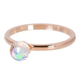 crystal glass ball AB rose
