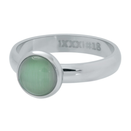 cat eye green zilver
