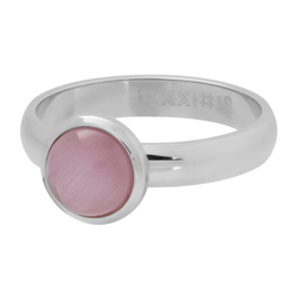 cat eye pink zilver