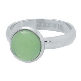 1 stone green zilver