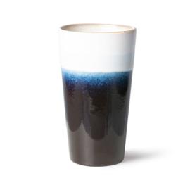 70s ceramics: latte mug, arctic
