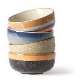 ceramic 70's bowls medium set of 4