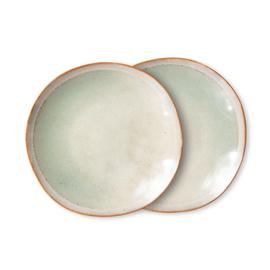 70s ceramics: side plates, mist (set of 2)*