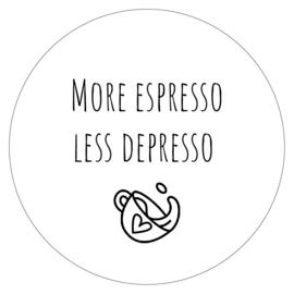 Muurcirkel More espresso 30cm