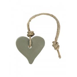 Zeephanger Hart  groen/grijs