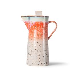 70s ceramics: coffee pot, asteroids*