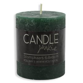 Candle junkie groen 8cm