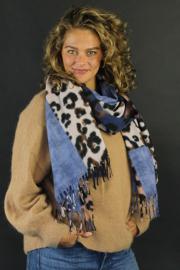 Wooly leopard blauw