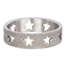 stars sanblasted zilver