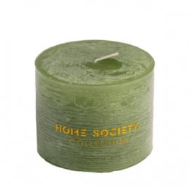 Pillar Candle 9x7cm green