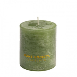 Pillar Candle 9x10cm groen