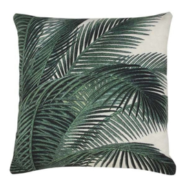 printed cushion palm leaves 45x45