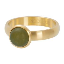 mat stone olivina goud