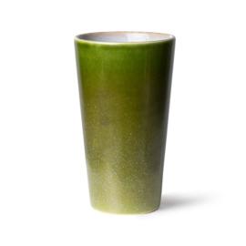 70s ceramics: latte mug, grass